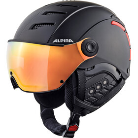 Alpina Jump 2.0 QVMM Ski Helmet black-red matt